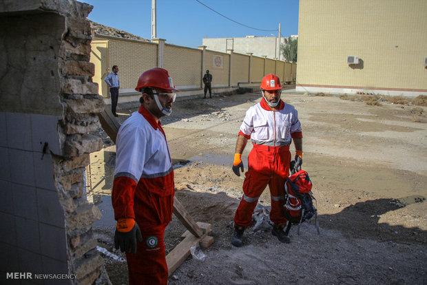 Earthquake maneuver across Iran