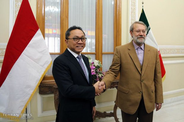 Larijani meets Indonesia's MPR head