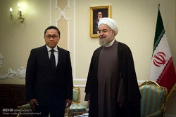 Rouhani, chairman of Indonesian MPR meet in Tehran