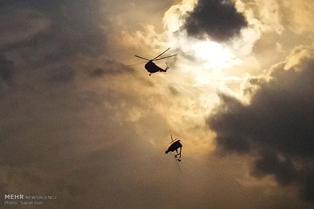 İran'daki helikopter kazasından kareler