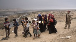 Displaced People During Offensive in Mosul