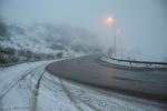 بارش برف و باران در محور چالوس/مه آلودگی در جادههای استان