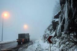 بارش برف در محورهای کوهستانی گلستان/ تردد با زنجیر چرخ ممکن است