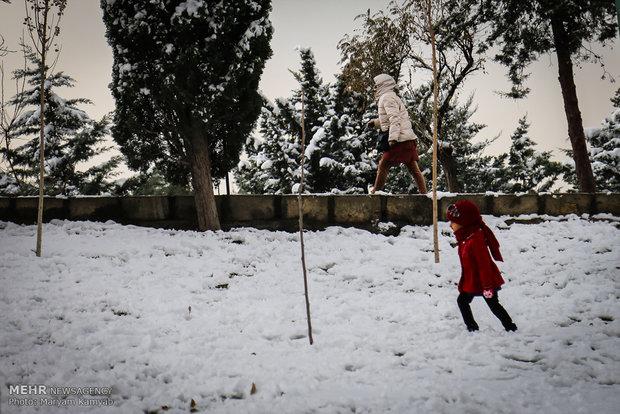 İran'da kar yağışı