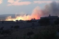 انهدام تانکرهای نفتی داعش در پالمیرا سوریه