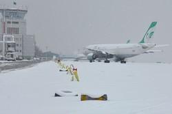 لغو پرواز امروز فرودگاه شهدای ایلام به دلیل بارش برف