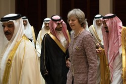 British Prime Minister Theresa May with (Persian gulf) Gulf leaders on Wednesday during a regional summit in Manama