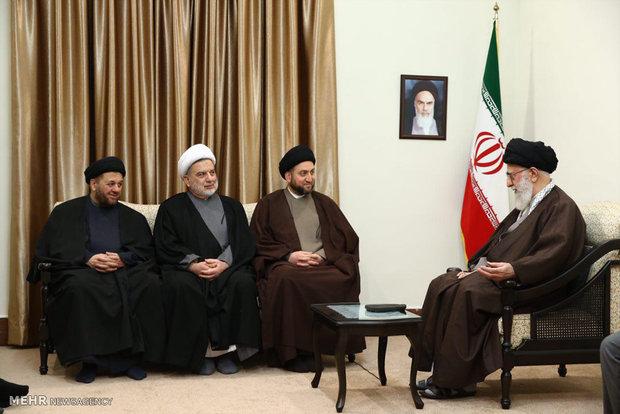 قائد الثورة يستقبل رئيس التحالف الوطني العراقي