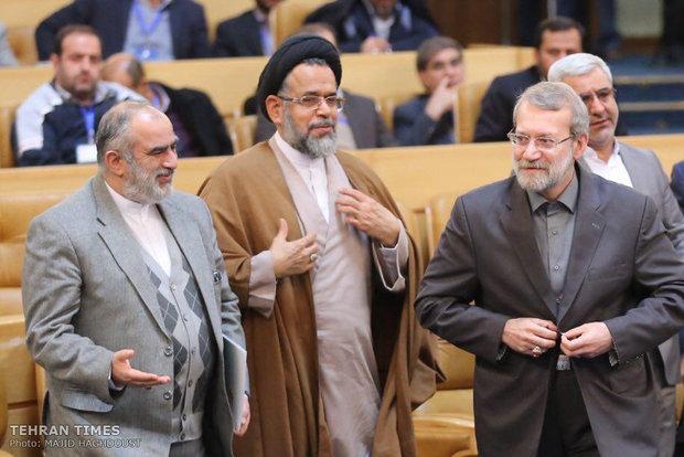 Ali Larijani, Iranian Intelligence Minister Seyed Mahmoud Alavi