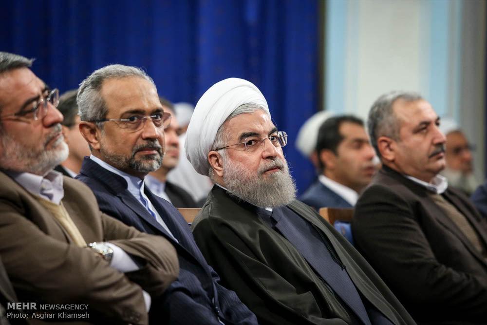نشست جمعی از علمای اهل سنت با رئیس جمهور