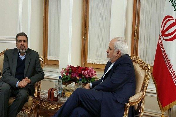 """ظريف يستقبل أمين عام حركة الجهاد الإسلامي الفلسطيني """"رمضان عبدالله"""""""