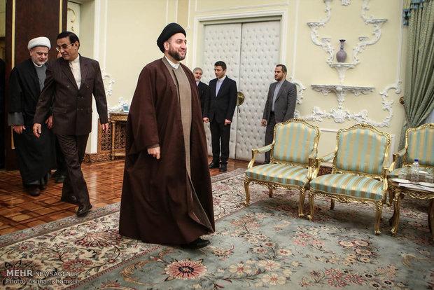 الرئيس روحاني يستقبل عمار الحكيم ورمضان عبدالله