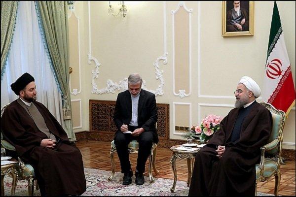 الرئيس الايراني يؤكد على اهمية وحدة اراضي العراق وترسيخ وحدته الوطنية