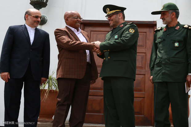 Dehghan meets S African Pres.