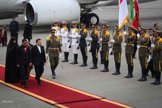 Indonesian Pres. arrives in Tehran on Tuesday