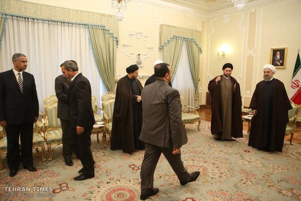 Ammar Hakim meet President Hassan Rouhani