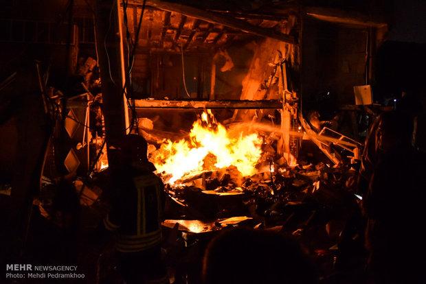 انفجار شدید گاز و آتش سوزی در منطقه باغ شیخ اهواز
