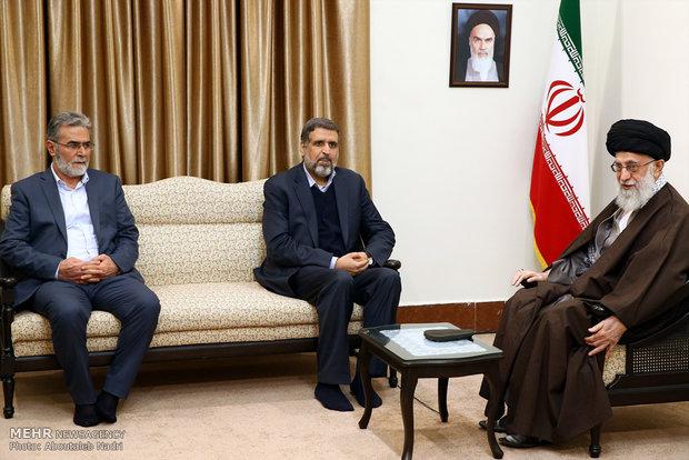قائد الثورة الإسلامية يستقبل أمين عام حركة الجهاد الإسلامي الفلسطينية