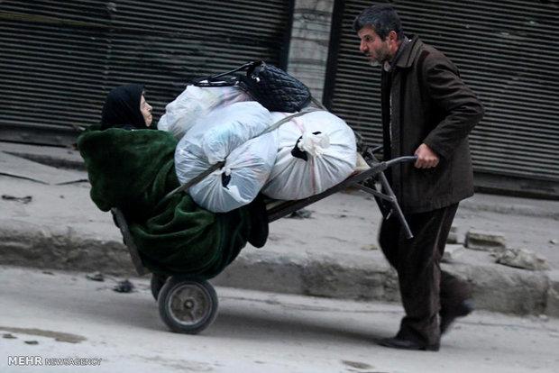 فرار از درگیری های حلب