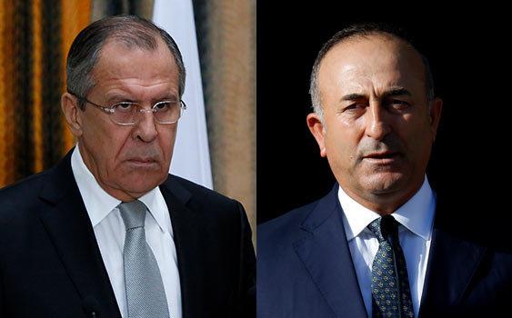 Çavuşoğlu, Lavrov discuss Aleppo with Zarif