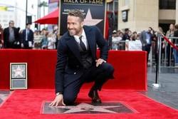 رایان رینولدز در هالیوود ستارهدار شد/سال خوب برای بازیگر ۴۰ ساله