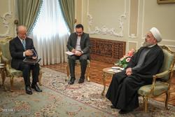 دیدار یوکیا آمانو مدیر کل آژانس بین المللی انرژی اتمی با رئیس جمهور
