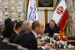لاريجاني يستقبل رئيس لجنة العلاقات الخارجية في البرلمان البرتغالي