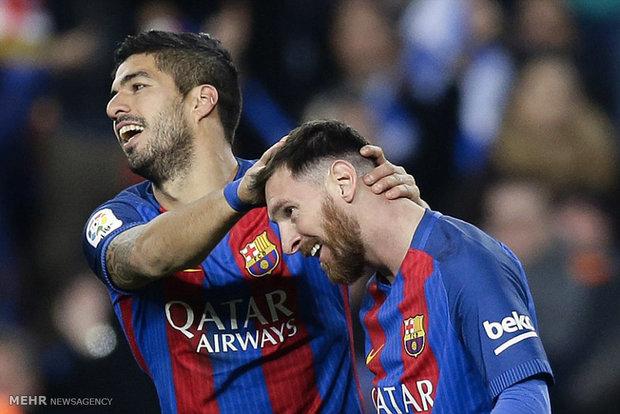 دیدار تیم های فوتبال بارسلونا و اسپانیول