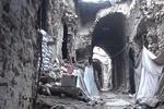 فیلم/ویرانی های به بار آمده از سوی تروریستها در بخش قدیمی حلب