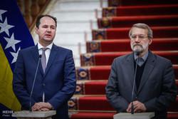 دیدار روسای مجلس ایران و بوسنی و هرزگوین