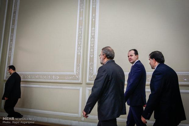 İran ve Bosna-Hersek meclis başkanları görüşmesi