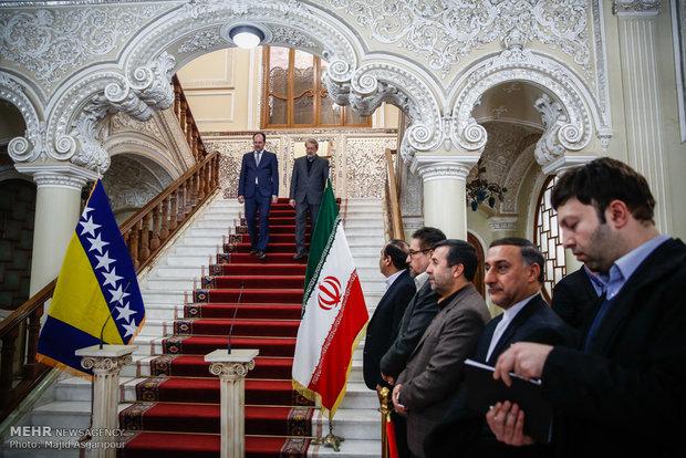 دیدار روسای مجلس ایران و بوسنی و هرİran ve Bosna-Hersek meclis başkanları görüşmesiزگوین