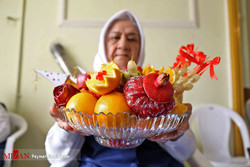 Women at a retirement home in Bojnourd, North Khorasan province, celebrated Yalda Night, the longest night of the year