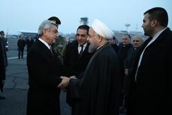 Rouhani departs Yerevan for Astana