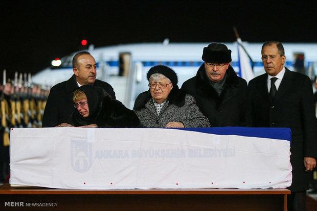 Rus Büyükelçi'nin cenazesinin Ankara'dan Moskova'ya gönderilmesi
