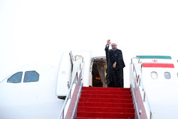 Pres. Rouhani leaves Switzerland for Austria