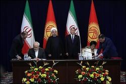 ايران وقرغيزيا توقعان على خمس وثائق للتعاون المشترك