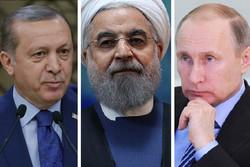 روحانی، پوتین و اردوغان