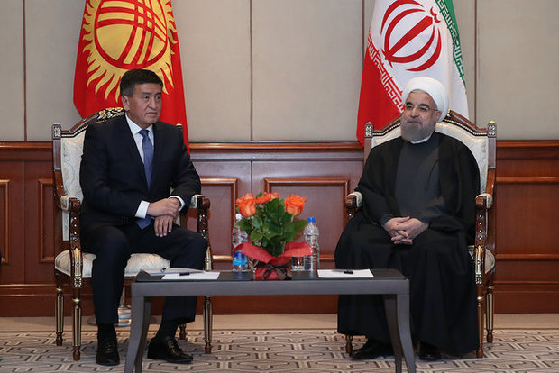 Rouhani urges closer trade ties with Kyrgyzstan