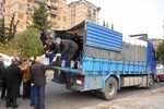 فیلم/ساکنان منطقه هنانو حلب به خانه و کاشانه خود باز می گردند