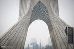 آسمان مه آلود تهران