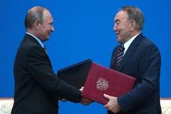 رؤسای جمهور روسیه و قزاقستان دیدار کردند