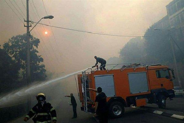 آتش سوزی گسترده در ساختمان پلاسکو/ محدودیت ترافیکی در پایتخت
