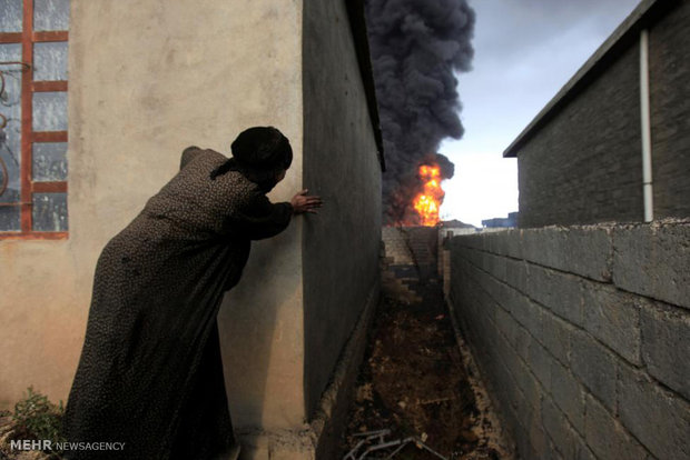 Musul'un petrol kuyularını söndürme çabaları