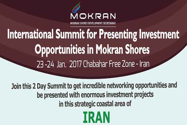 Iran to hold 1st intl. summit on investment in Mokran Shores