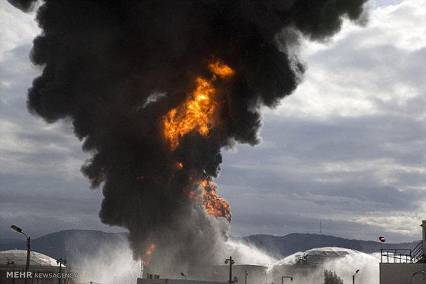 Siyonist Rejim'in petrol rafinerisinde yangın