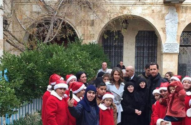 الرئيس السوري يحتفل بعيد الميلاد في دير سيدة صيدنايا
