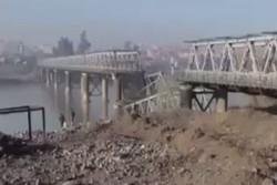 فیلم/آمریکا آخرین پل از پلهای پنجگانه «موصل» را تخریب کرد