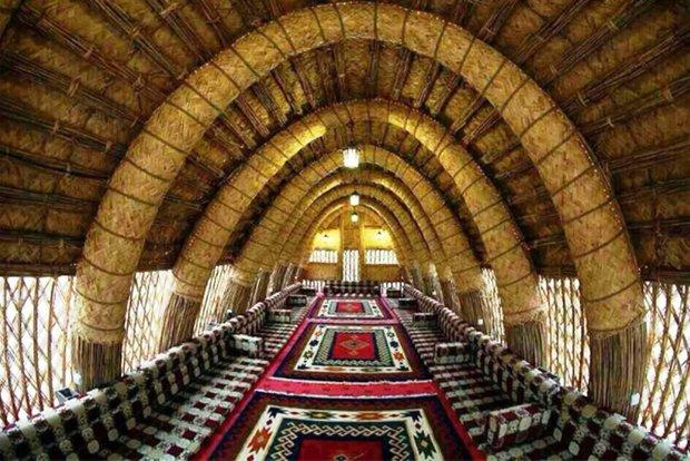 مهمانوازی عربی در خانه های بافته از نی/افزایش مضیفهای خوزستان