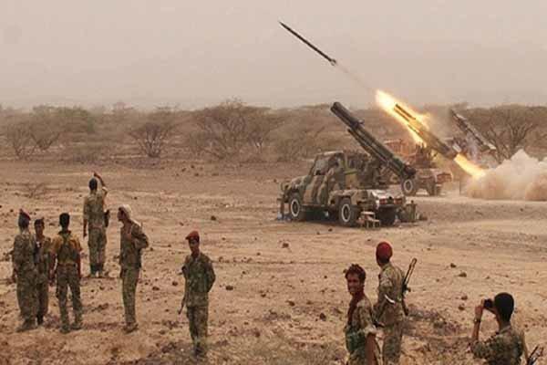 حمله موشکی به پایگاه شبه نظامیان منصور هادی در مارب